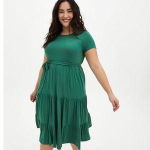 Torrid Super Soft Tiered Midi Dress